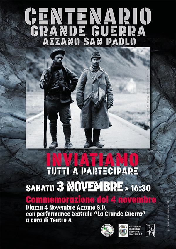 Centenario Azzano commemorazione 4 novembre