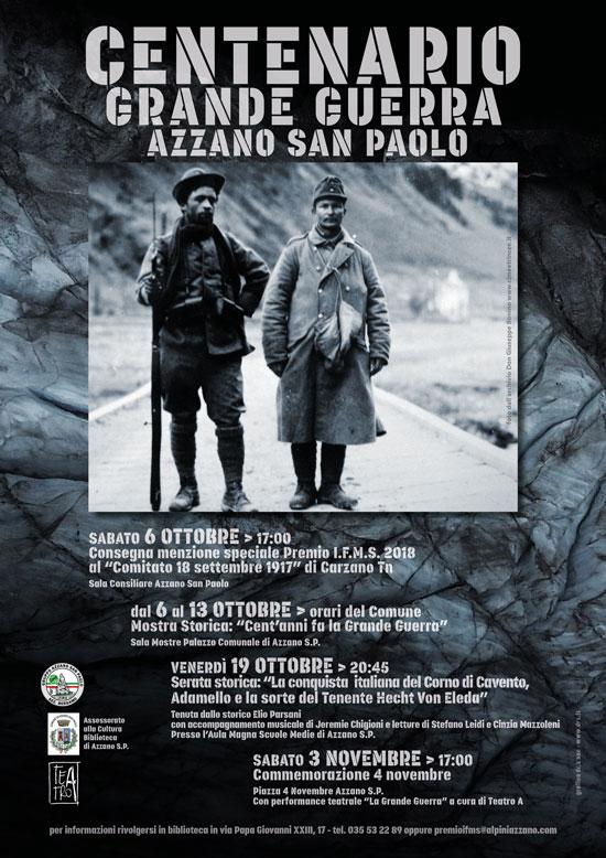 Centenario dell Grande Guerra ad Azzano San Paolo - Calendario eventi 2018